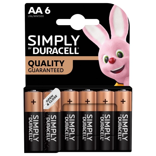 Duracell Plus AA Batteries (6)