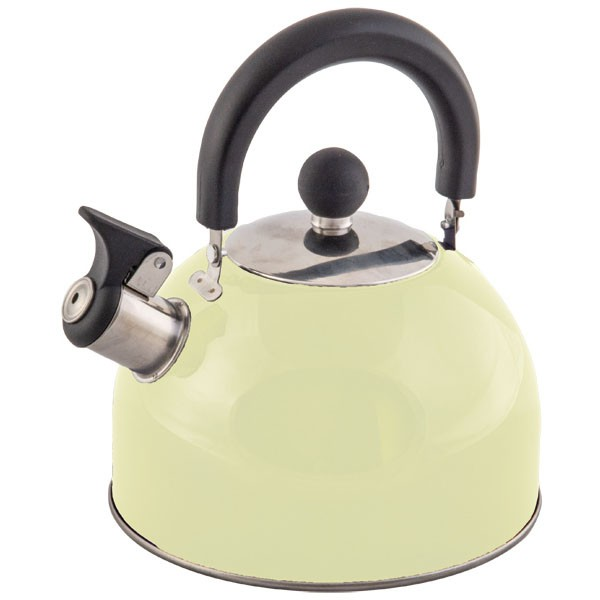 Quest Stainless Steel Whistling Kettle 2L (Cream)