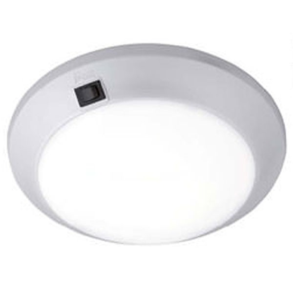 Cirro LED Ceiling Light with Switch 25cm (Matt Silver)
