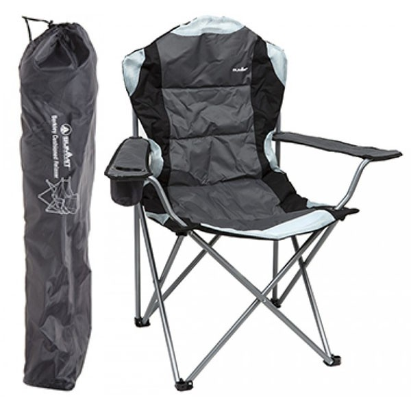 Summit Berkley Folding Camping Chair (Black/Grey)