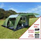 SunnCamp Silhouette 400 Tent with Carpet and Footprint Groundsheet