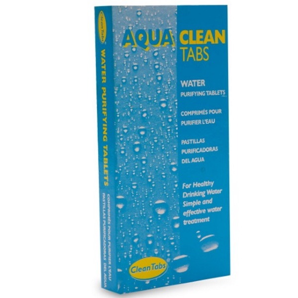 aqua clean tabs pack of 32 water purifying tablets. Black Bedroom Furniture Sets. Home Design Ideas