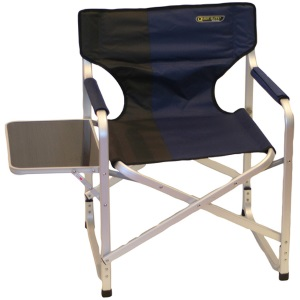 Quest Directors Chair With Side Table Blue