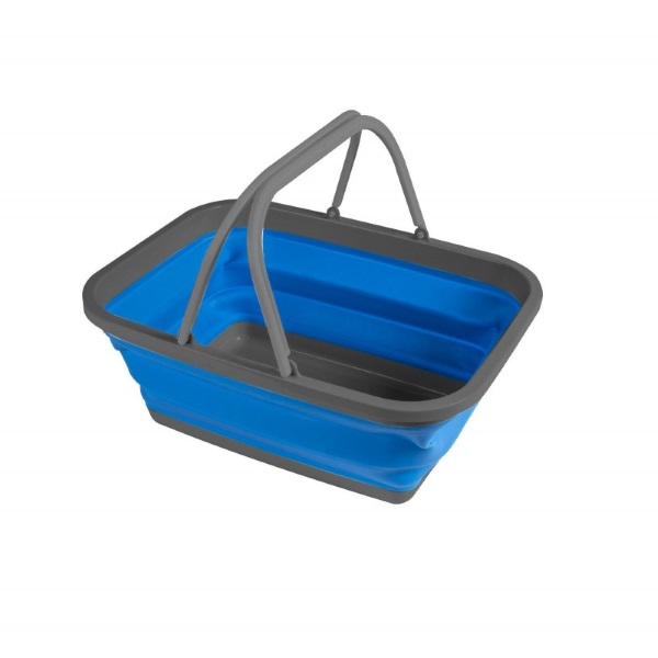 Folding Washing Bowl Large (Blue)  Ideal for Washing Dishes on the Campsite # Differenz Wasbak_213420