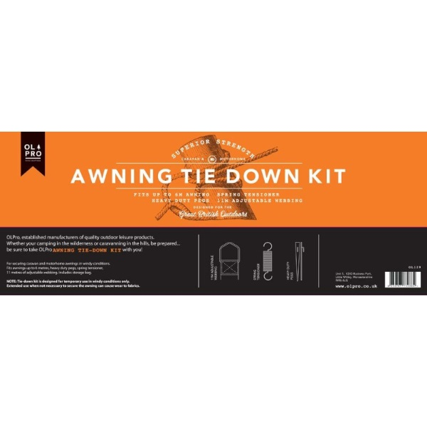 Olpro Awning Tie Down Kit Secures Awnings In Windy