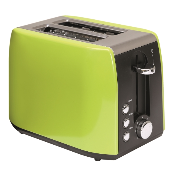 Quest Stainless Steel Toaster Lime Green Low Wattage