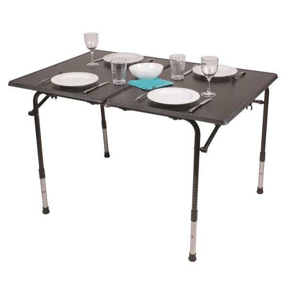 Kampa Hi Lo Pro Table Deluxe Large Camping Table With